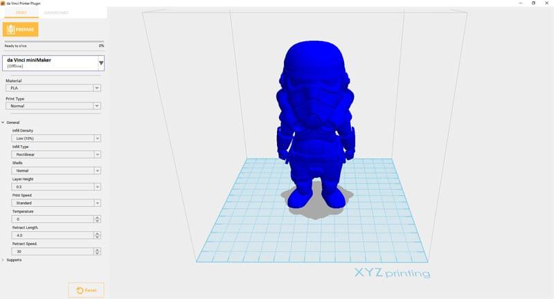 XYZ Maker for setting print